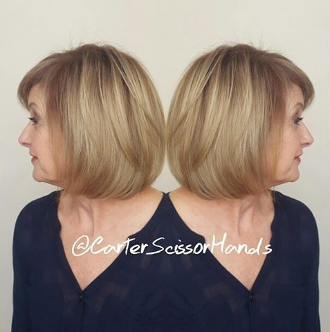 Over 50 Hairstyles disconnected bob for older women Over Bob With Bangs