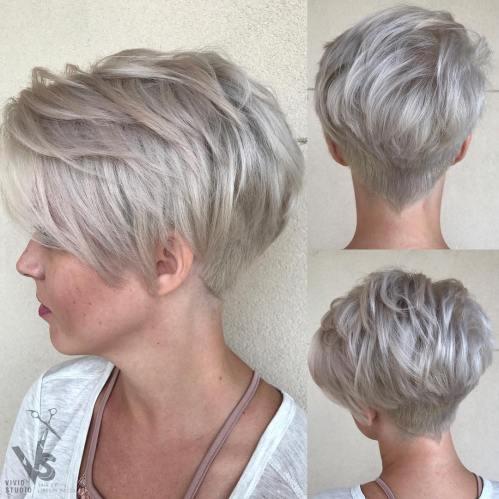 Short Choppy Silver Blonde Pixie