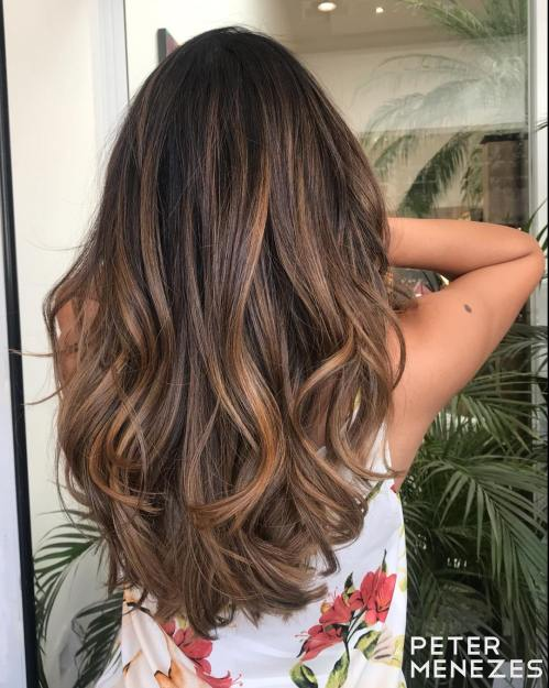 Cinnamon Highlights For Brown Hair