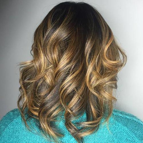 Dark Brown Hair With Golden Blonde Balayage