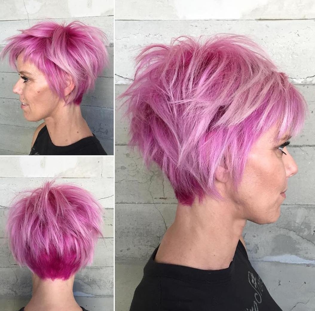 Shaggy Pastel Pink Pixie