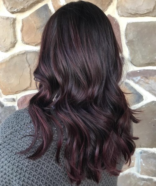Black Hair With A Burgundy Tint