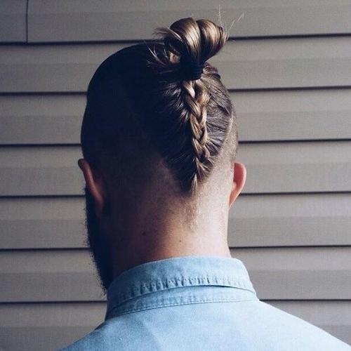mens long braided undercut hairstyle