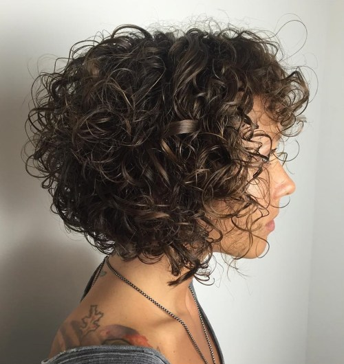 Brown Bob for Curly Hair