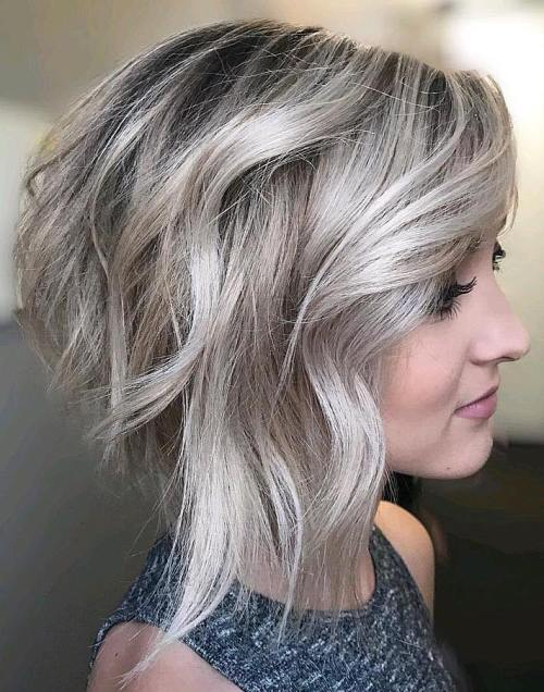 Inverted Bob With Loose Waves