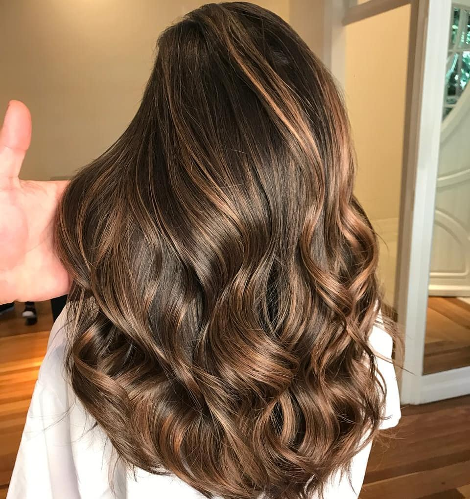 Long Thick Caramel Brown Hair