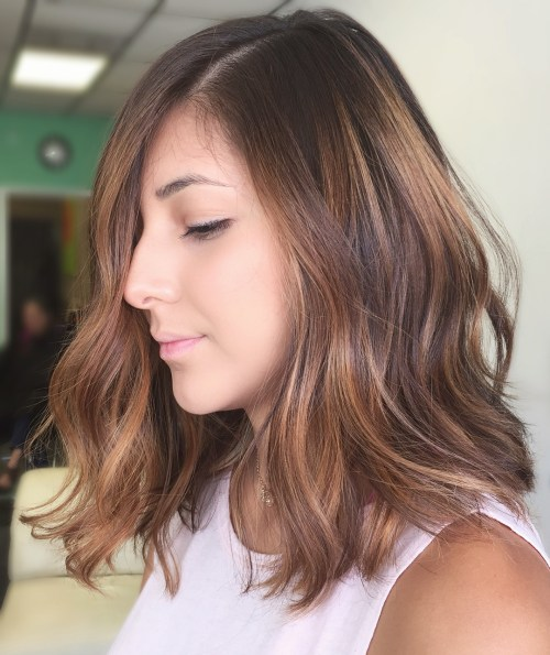 Medium Caramel Brown Balayage Hair