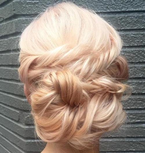 Messy Fishtailed Updo