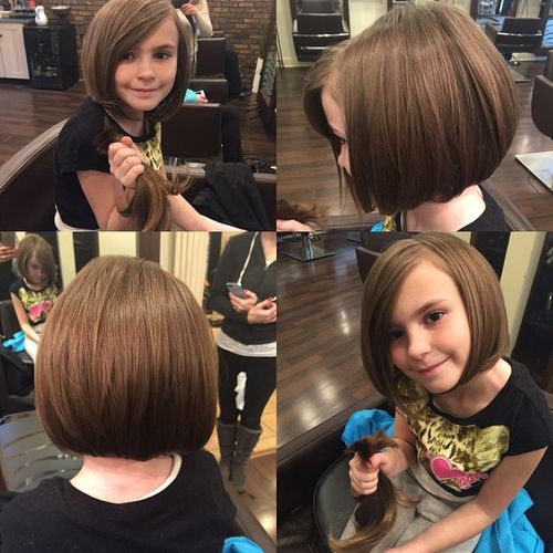 Classic bob haircut for little girls