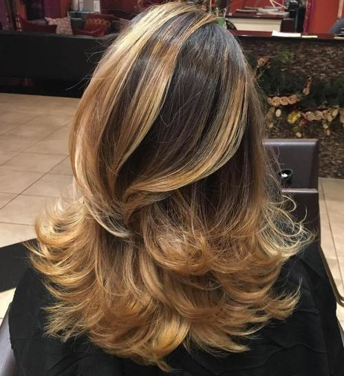 Golden Blonde Balayage Ombre