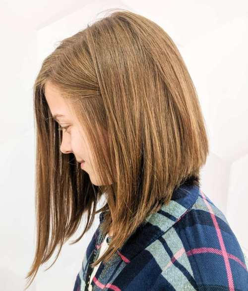 Medium Angled Cut For Young Girls
