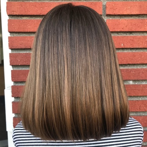 Medium Brown Balayage Hairstyle For Girls