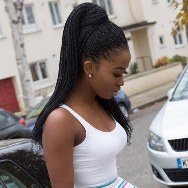 The 10 Most Beautiful Small Box Braid Hairdos