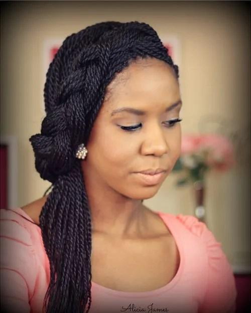 braided hairstyle for twist braids