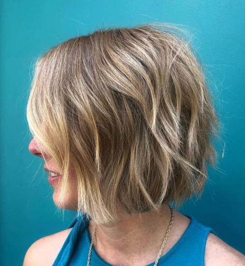 Chin-Length Razored Bob