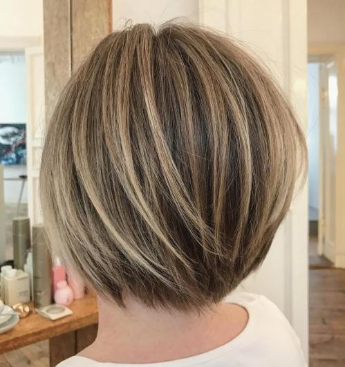 Short Layered Bob With Subtle Balayage