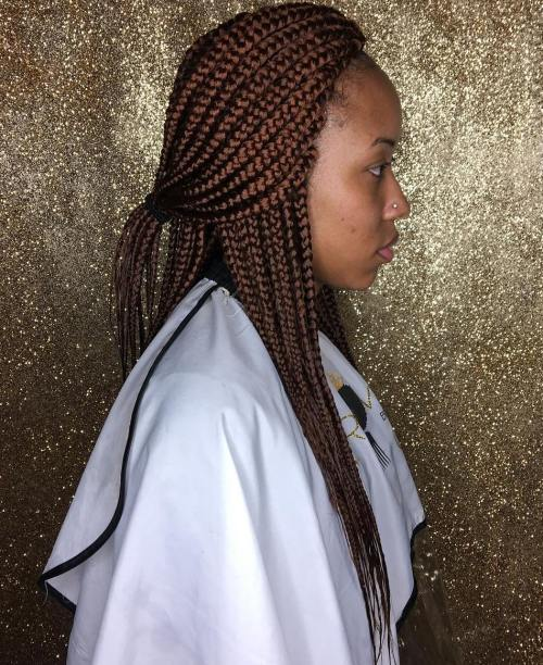 Chocolate Brown Box Braids
