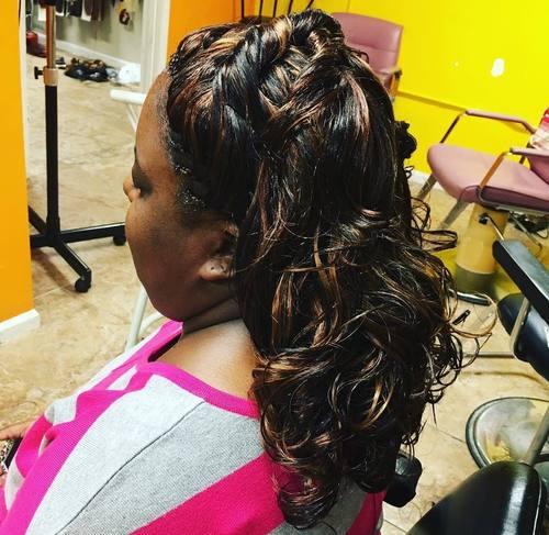half up half down tree braids hairstyle