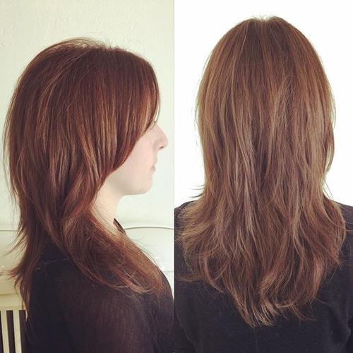 long choppy haircut