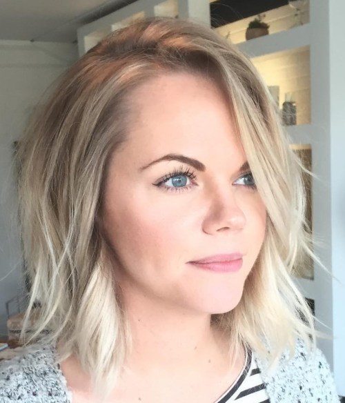 hair styles for straight fine hair 70 medium length hairstyles for thin hair in 2019 9614 | 16 messy bob for straight fine hair