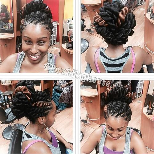 thick twists hairstyle