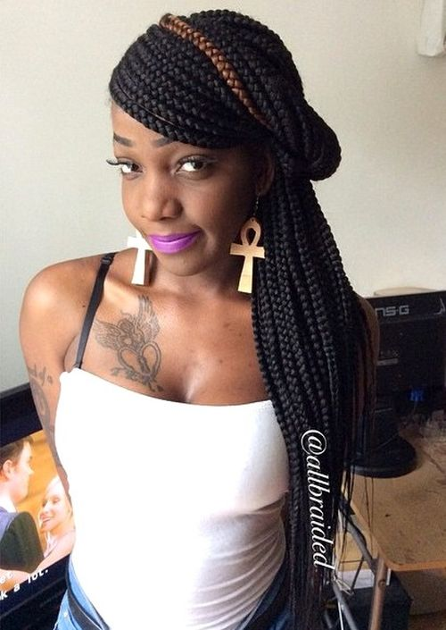 Remarkable 20 Best Looks Featuring Big Box Braids And Their Close Up Details Hairstyles For Women Draintrainus