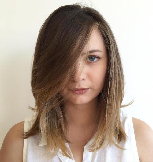 Medium Hairstyle With Bangs For Fine Hair