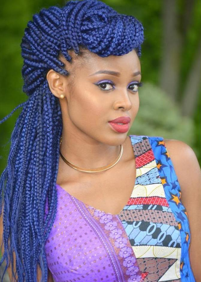 Blue Box Braids