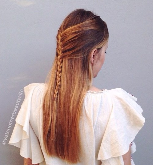 40 picture perfect hairstyles for long thin hair braided half updo for straight hair pmusecretfo Image collections