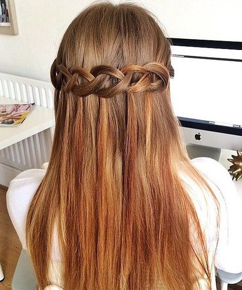 prom hairstyles for long straight hair down hair