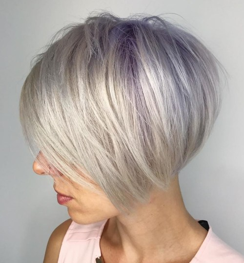 Platinum Blonde Bob For Thin Hair