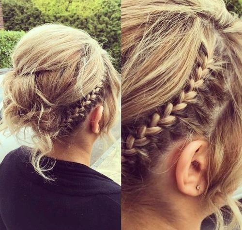 60 updos for thin hair that score maximum style point messy updo with a braid for thin hair pmusecretfo Image collections