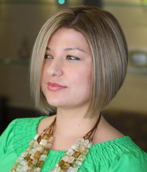 Sleek Off-Centered Bob