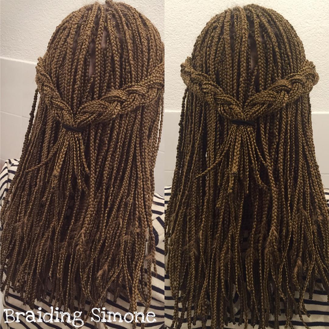 Half Updo For Single Braids