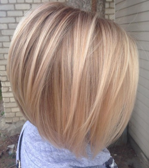 Straight Inverted Blonde Bob