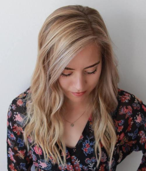 Medium To Long Wavy Blonde Hairstyle