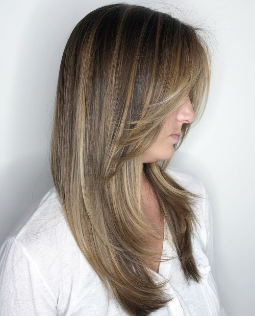 Long Front-Layered Haircut