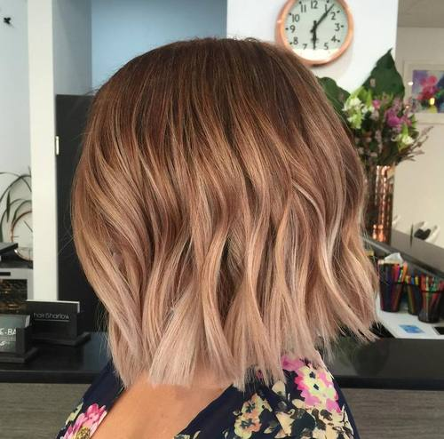 light brown ombre bob