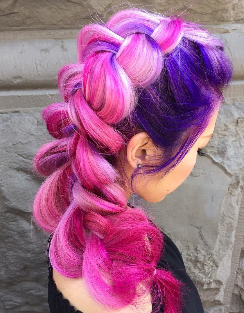 pink and purple hair styles 20 hairstyles you will want to rock immediately 3957 | 10 pink and purple hair with blonde highlights