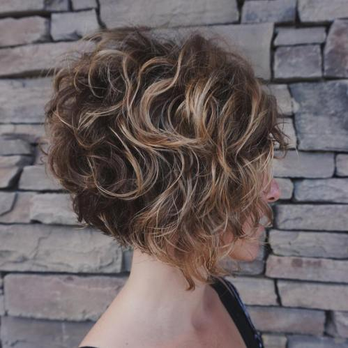 Stacked Inverted Curly Bob