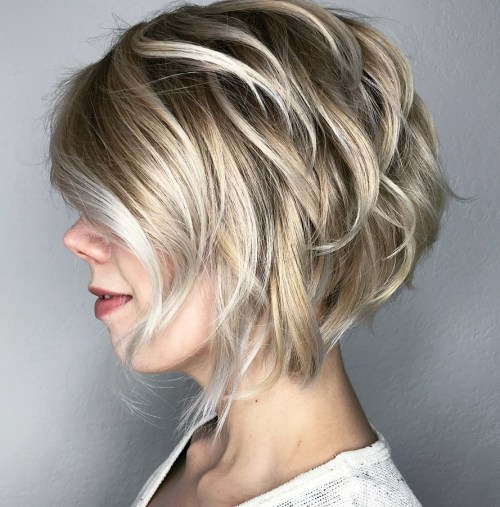 Blonde And Silver Piece-Y Bob