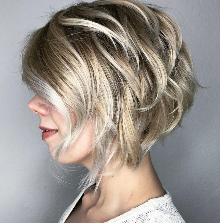 Blonde And Silver Piece-Y Bob