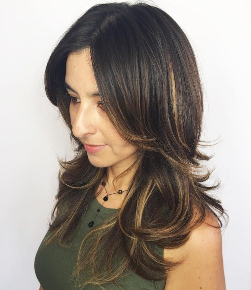 Brunette Hairstyle With Long Layers