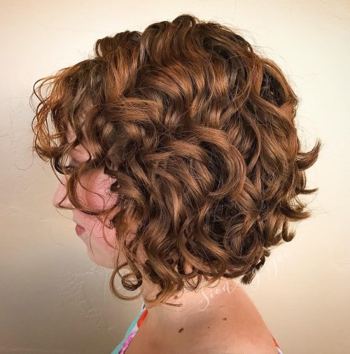 Curly Bouncy Red Bob