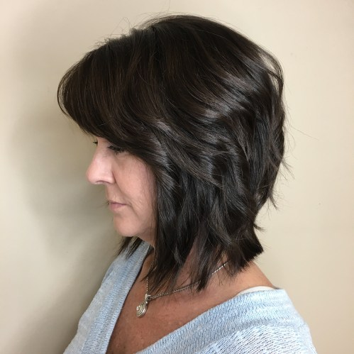 Layered Collarbone Lob Over 50
