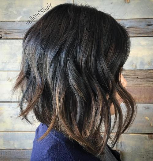 Layered Lob With Highlights