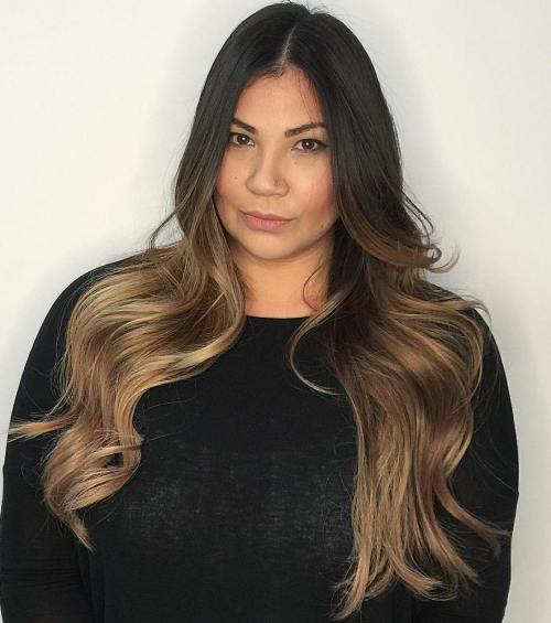 ambre hair styles 40 ideas for black ombre hair 6922 | 12 light brown ombre for black hair