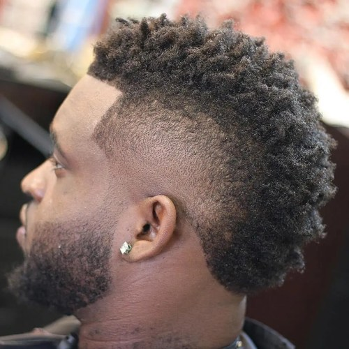 Natural Mohawk With Facial Hairstyle