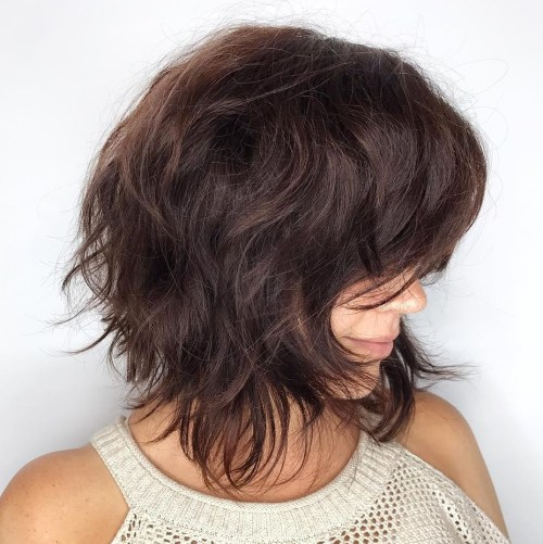 Shag Bob Haircut For Thick Hair