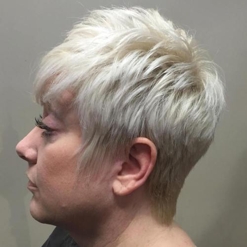 Feathered Blonde Pixie 50+